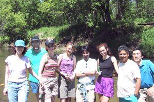 group photo of canoe trip, ca. 2001
