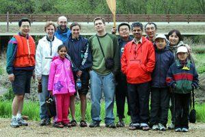 group photo of canoe trip, ca. 2004